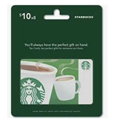 Coffee Gift Card For Mom & Dad