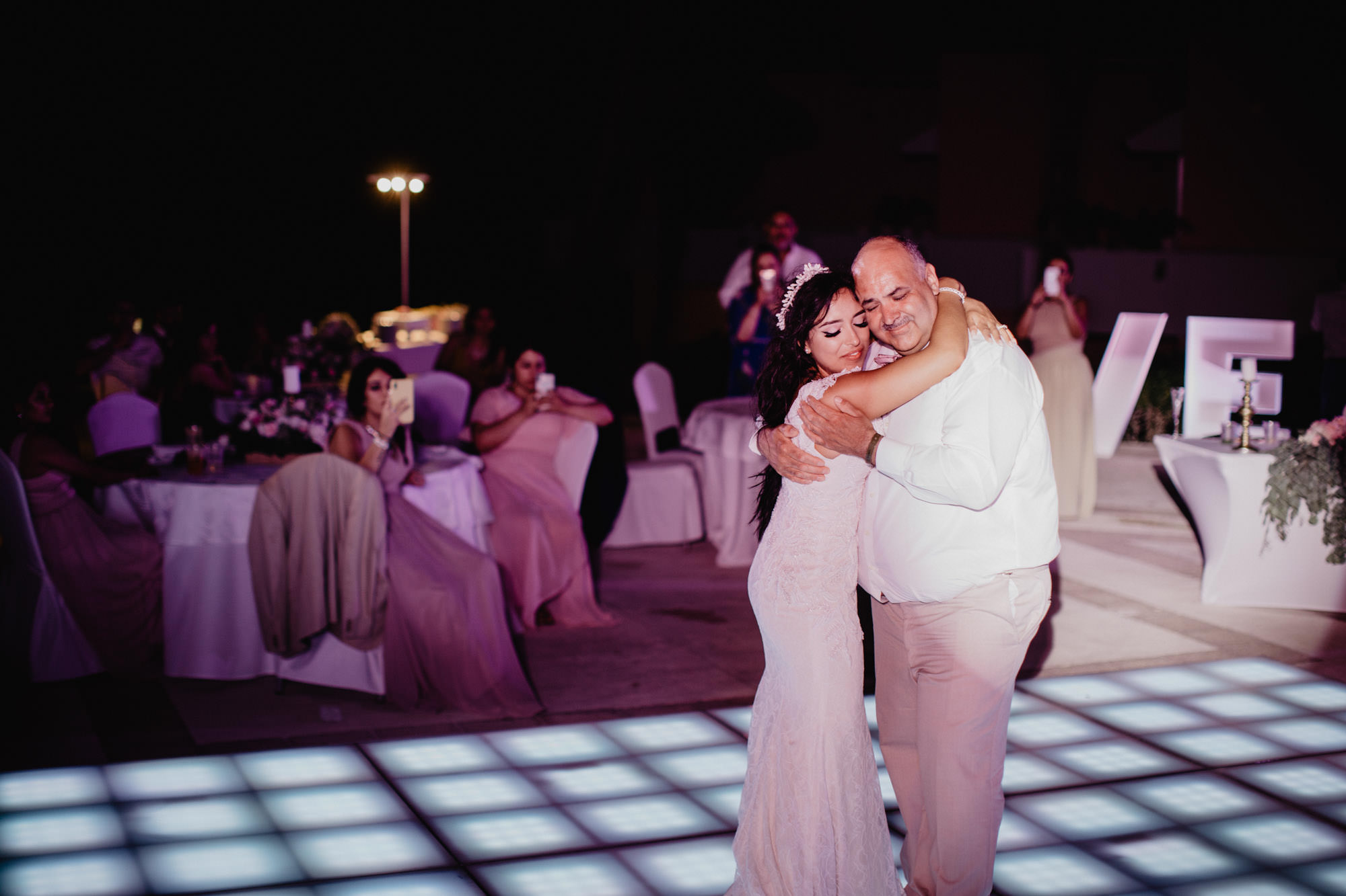 Cancun Mexico destination wedding outdoor reception