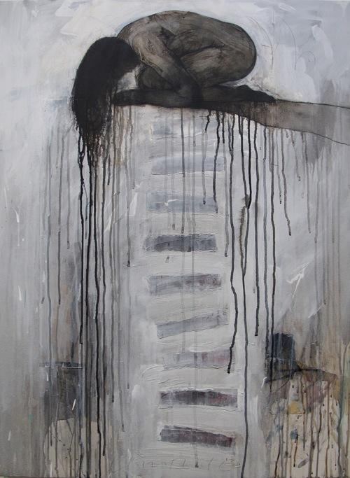 "David Limrite_Nurturing The Silence, mixed media on canvas, 40""x 30"", 4,000.jpg"