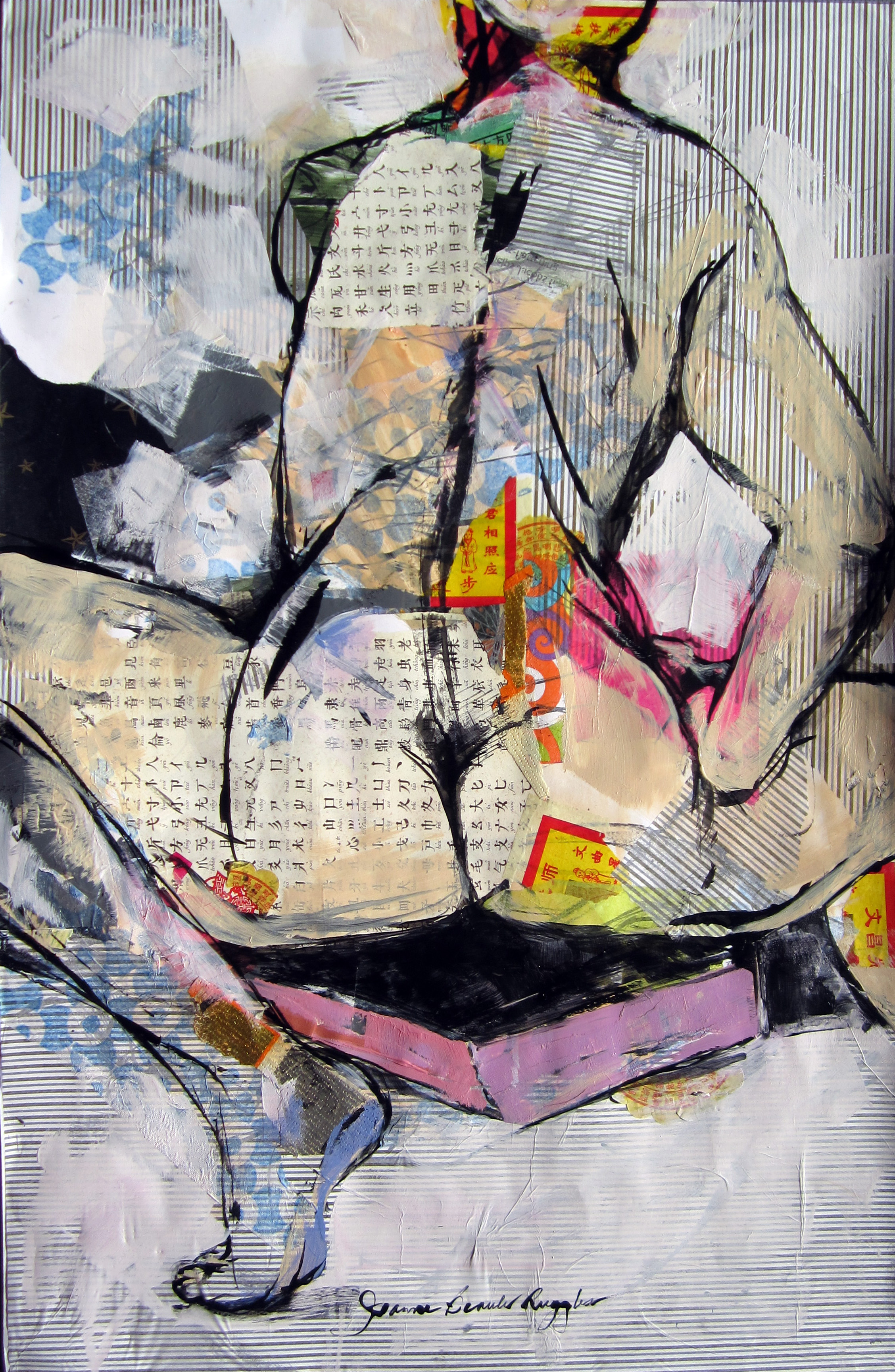 BeauleRuggles_TheSumofAllThings_40x26%22_AcrylicCollage&InkonPaper_$2950.JPG