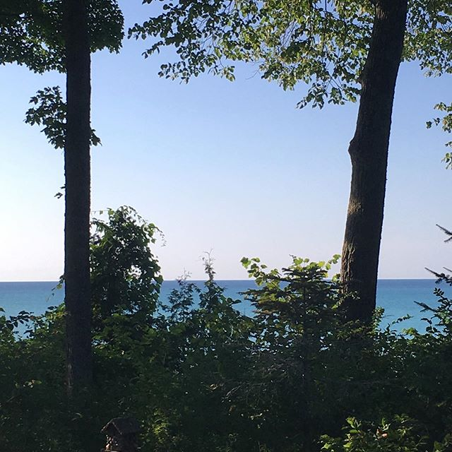 Not a bad view for the next week. #lakegram #lakemichigan