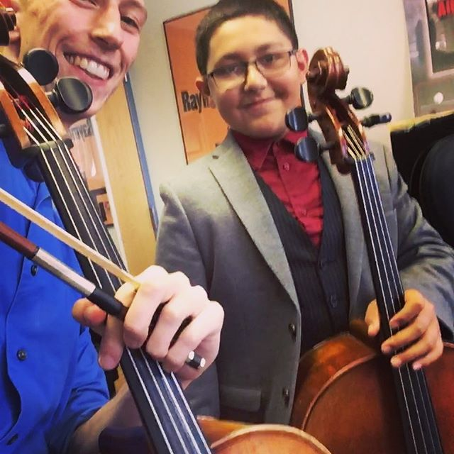 New life goal: be as well dressed as my student. #fashion #cello