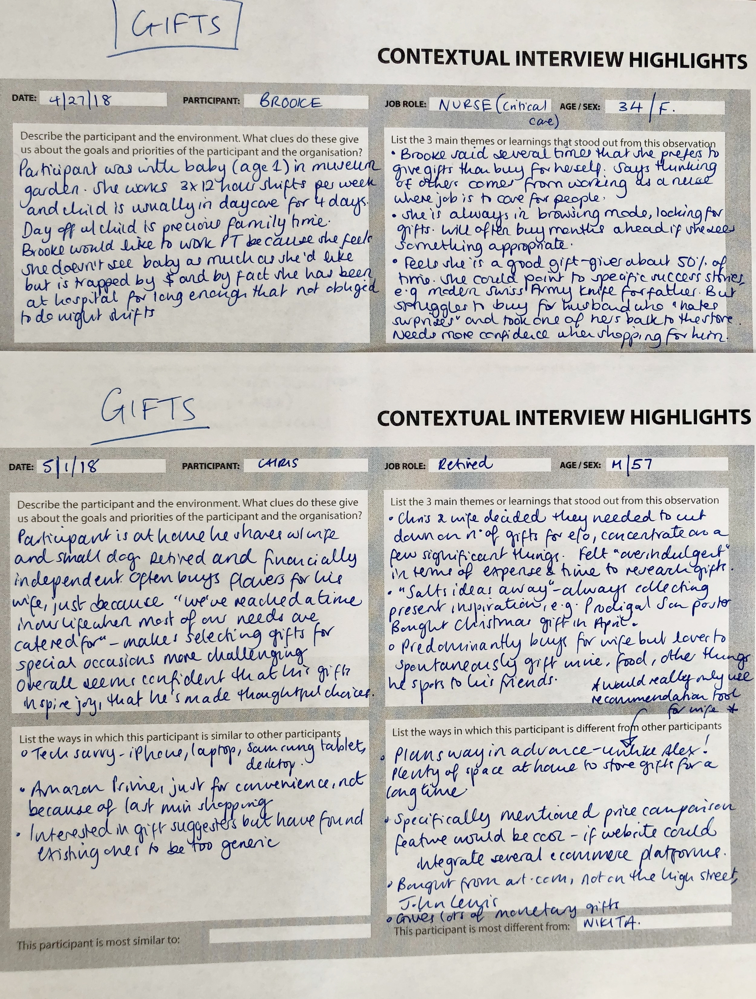 Summarizing key observations, comparing, contrasting