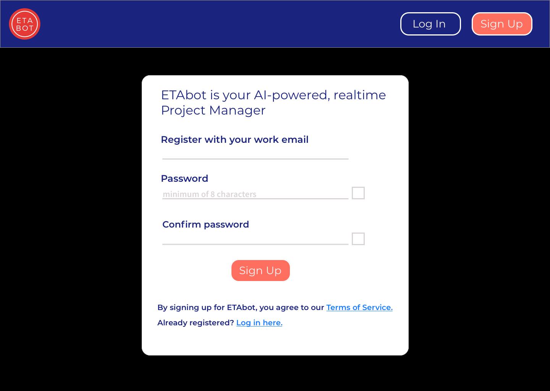Sign up for ETAbot