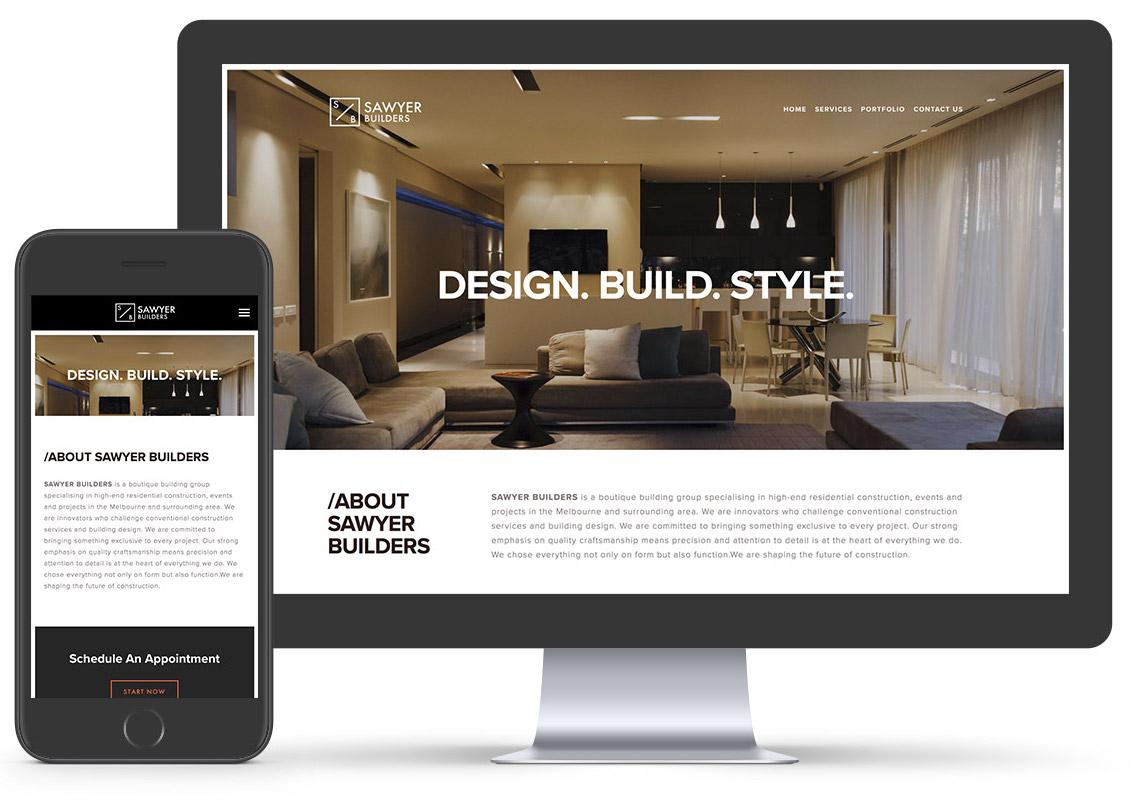 sawyer builders website design