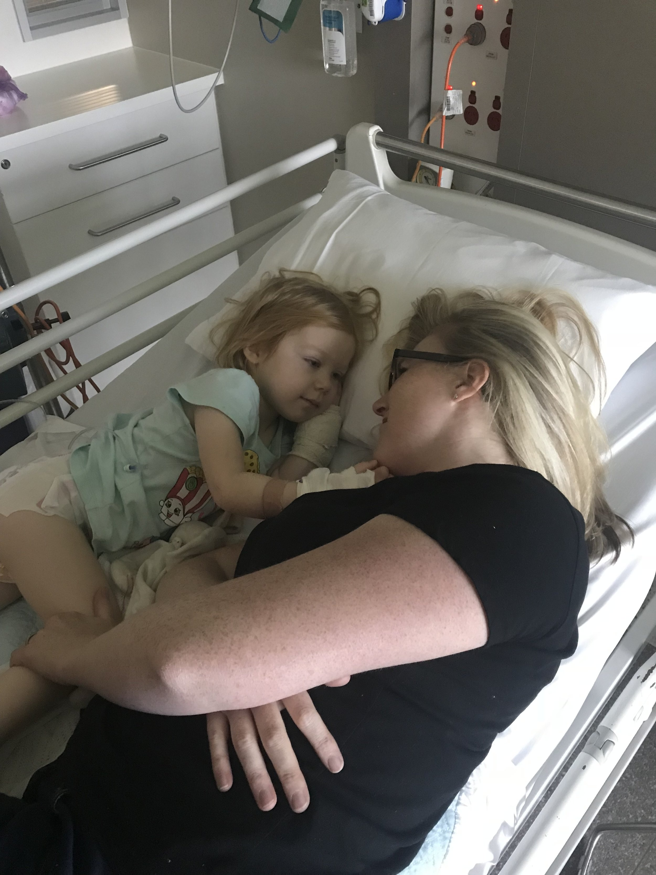Our very first day at the Royal Children's Hospital on 19 December 2017