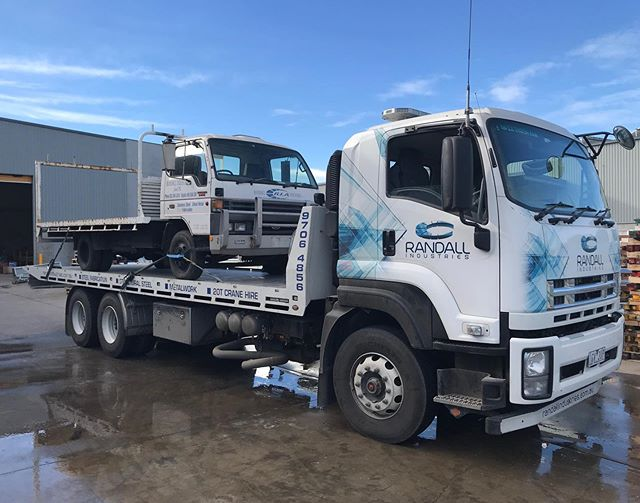 Retirement for our first truck today, nearly 30 years of service. #outwiththeold #inwiththenew  #steel #design #metal #welding #mobilecrane #lifting #construction  #fabrication #engineering #metalwork #weld  #industrial  #welder #maeda #minicranes #crane #rigging #structuralsteel #structure