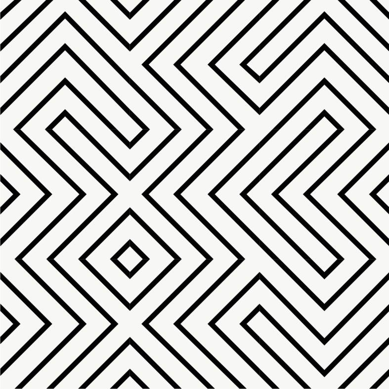 Vinyl Tile Stickers Pack in Black Maze