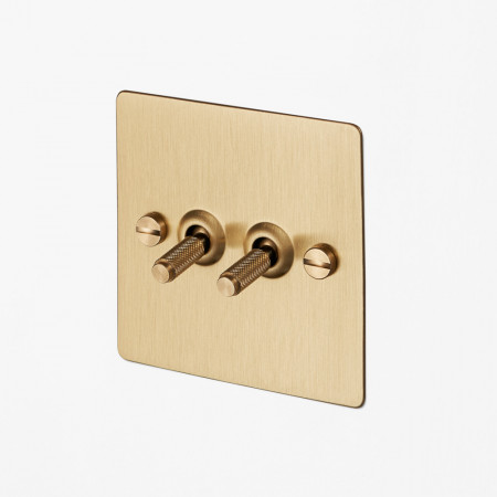 Brass Switchplate, Buster & Punch