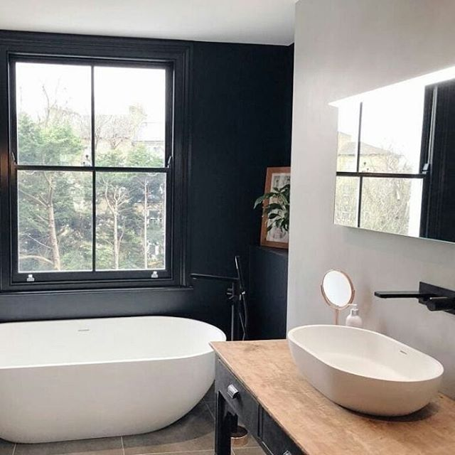 Another look at this beautiful bathroom design by @4_floors_of_madmess, featuring our Peak mirror. . . . #myrenovation #victorianterracerenovation #bathroom #ensuite #lights #lighting #luxury  #mystyle #myhome #bathroomdecor #bathroominspo #renovation #bathroomdesign