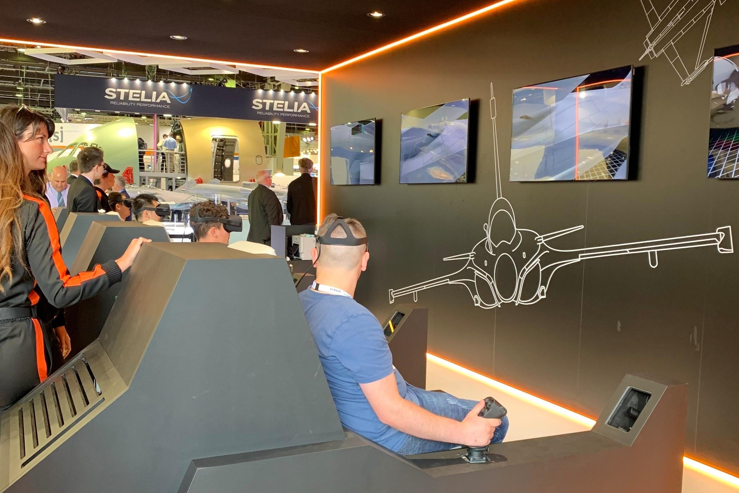VR installationhe chance to pilot a Dassault Rafale Fighter