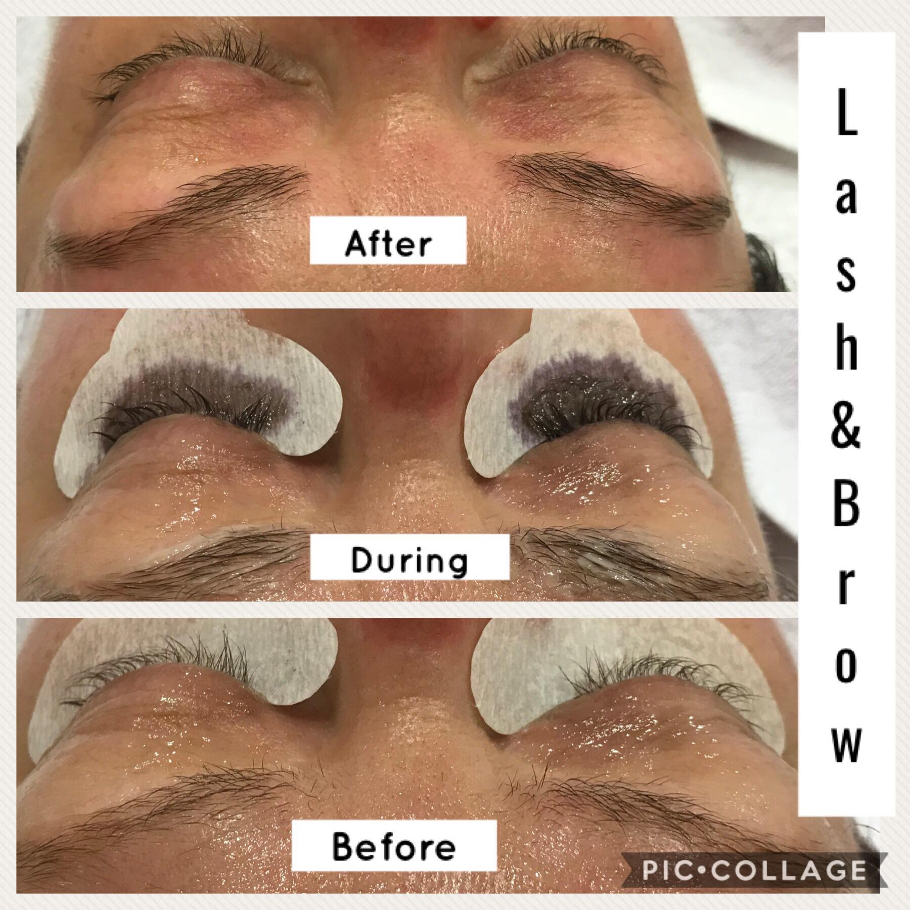 Lash and brow tinting