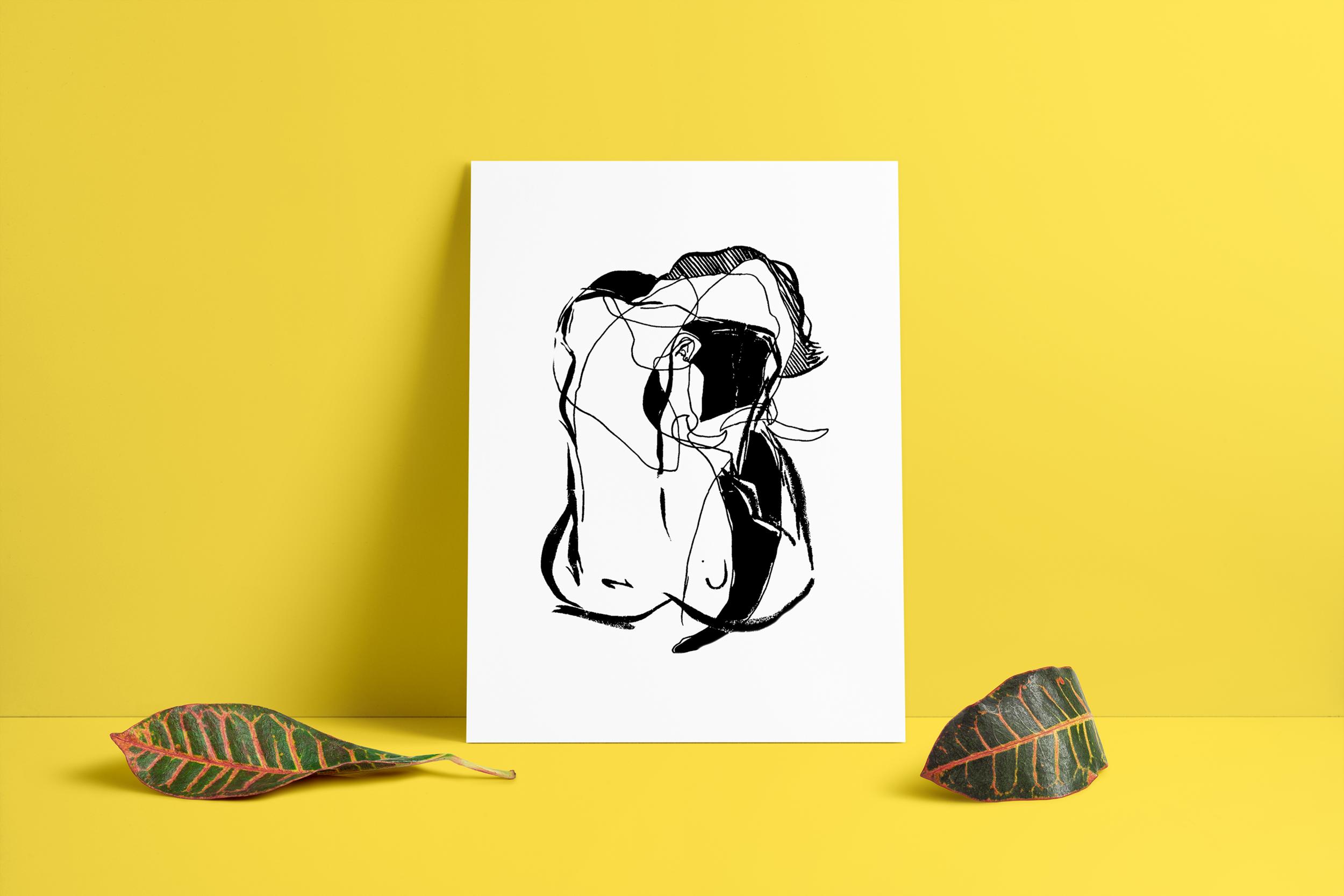 $20    BUY    Elephant Lady Art Print