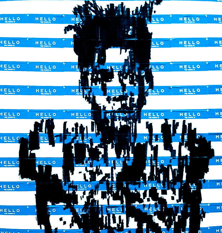 "$600   SOLD OUT   ""Basquiat"" on Sticker - Original Art"
