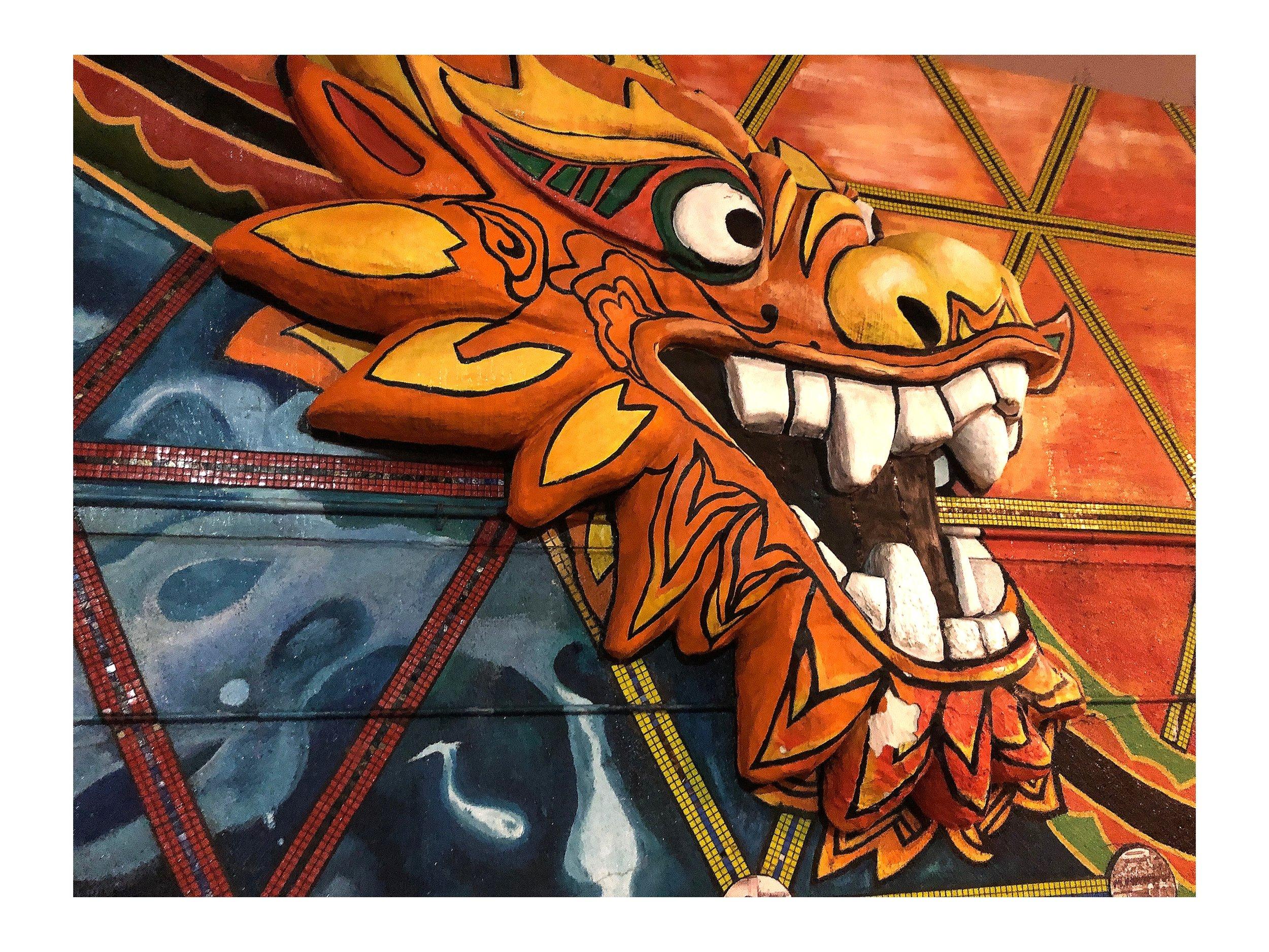 Paper Mache Dragon Head Chinatown