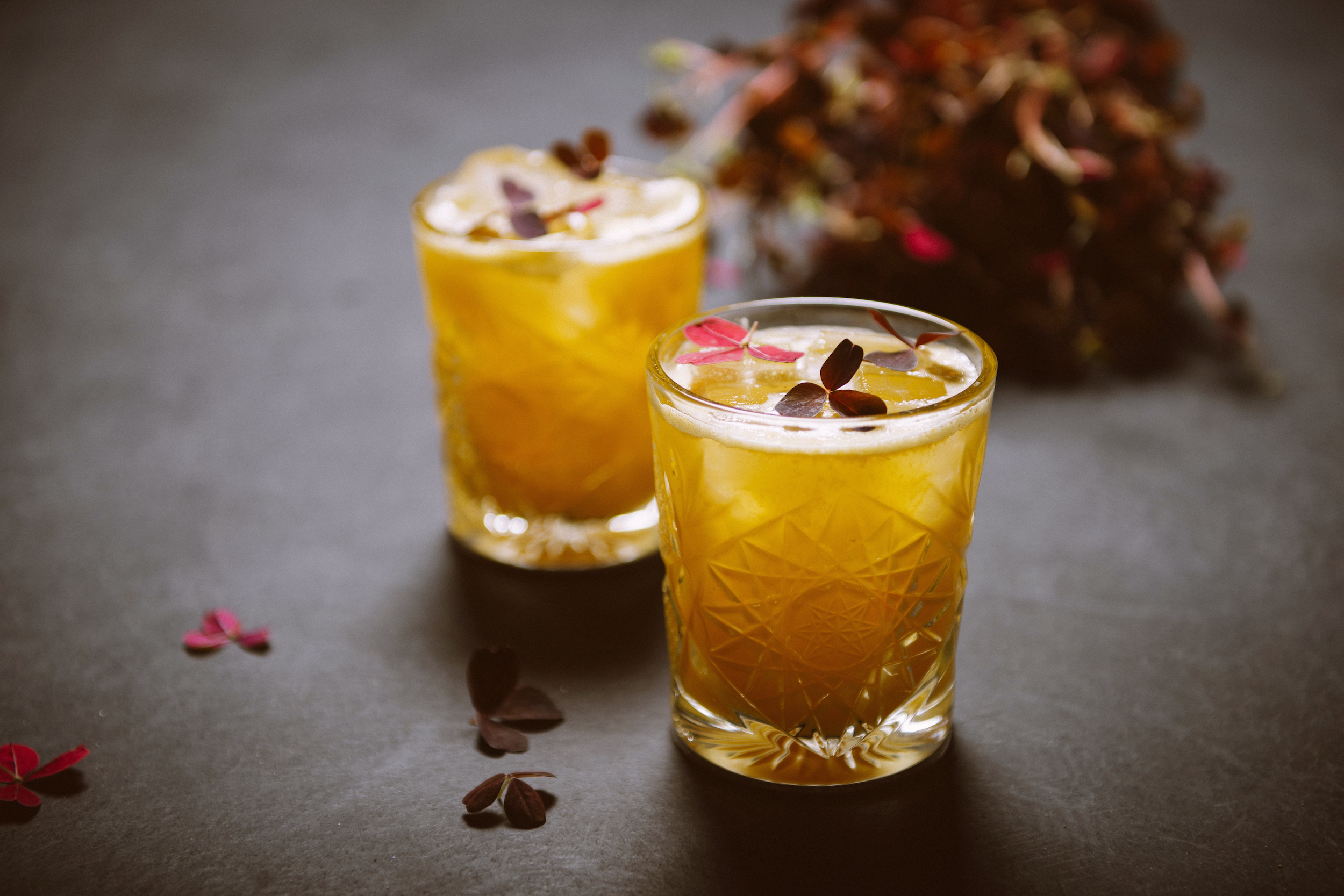 Norseman Sour - The award-winning Norseman Sour consists of gin, seabuckthorne, raw liquorice and wood sorrel. It earned Hardeep the award for Best Nordic Cocktail in 2014.