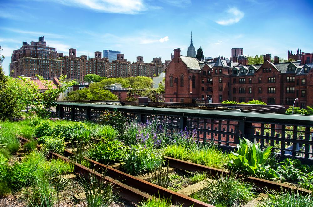 High Line er en vakker og unik park bygget opp på gamle jernbaneskinner. Parken strekker seg fra Meatpacking District rundt 12th Street og opp til 34th Street.