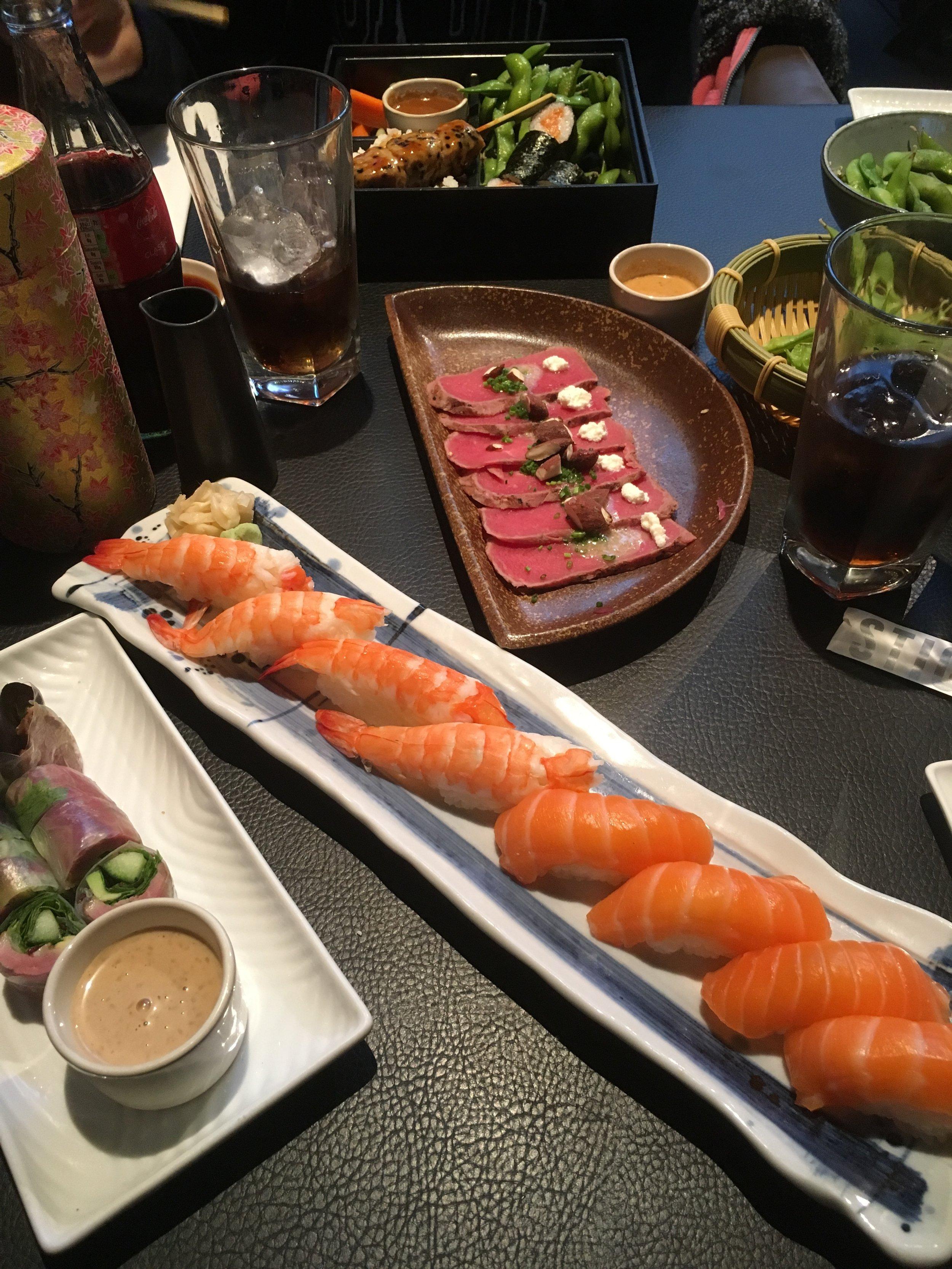 Fristende sushi finner man på Sticks´n Sushi i Covent Garden