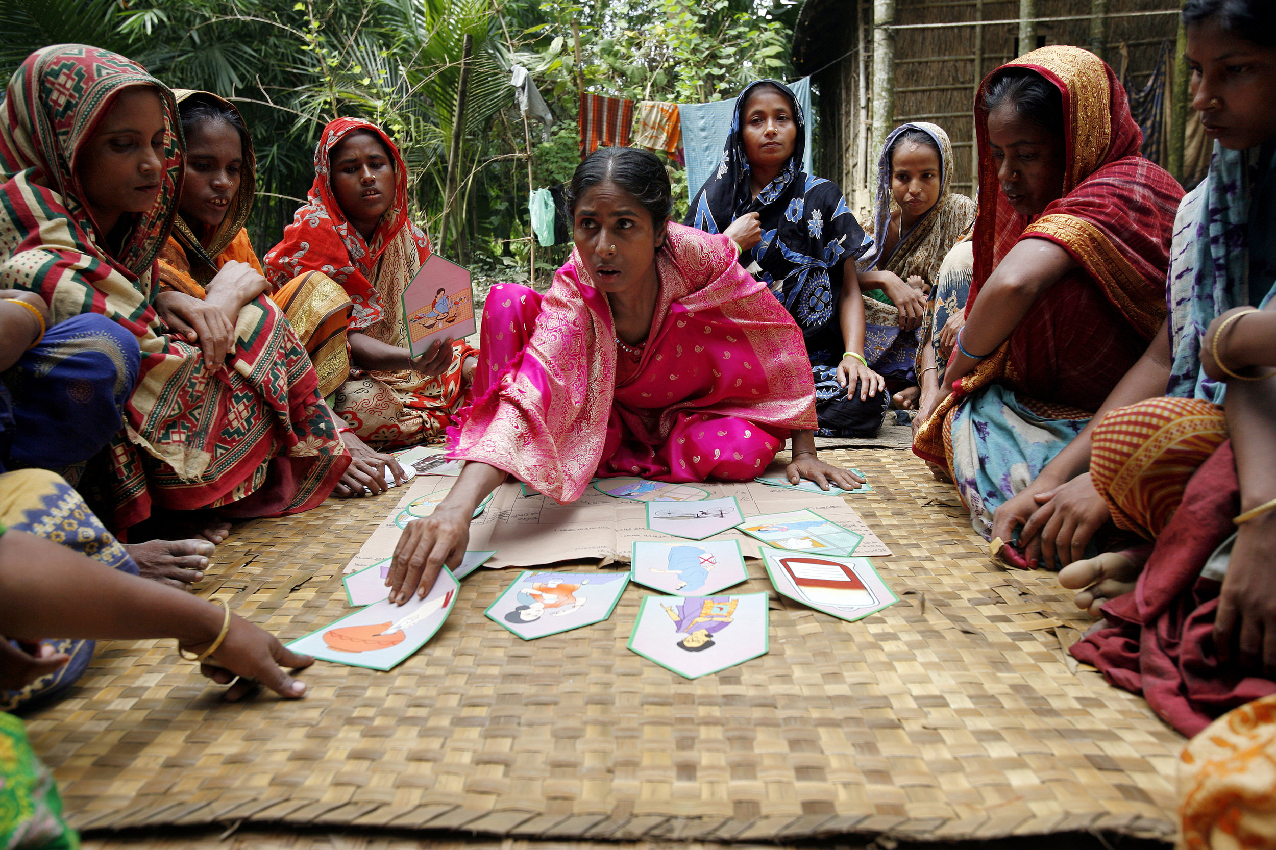 A community health group in action, using the Participatory Learning and Action approach championed by Women and Children First