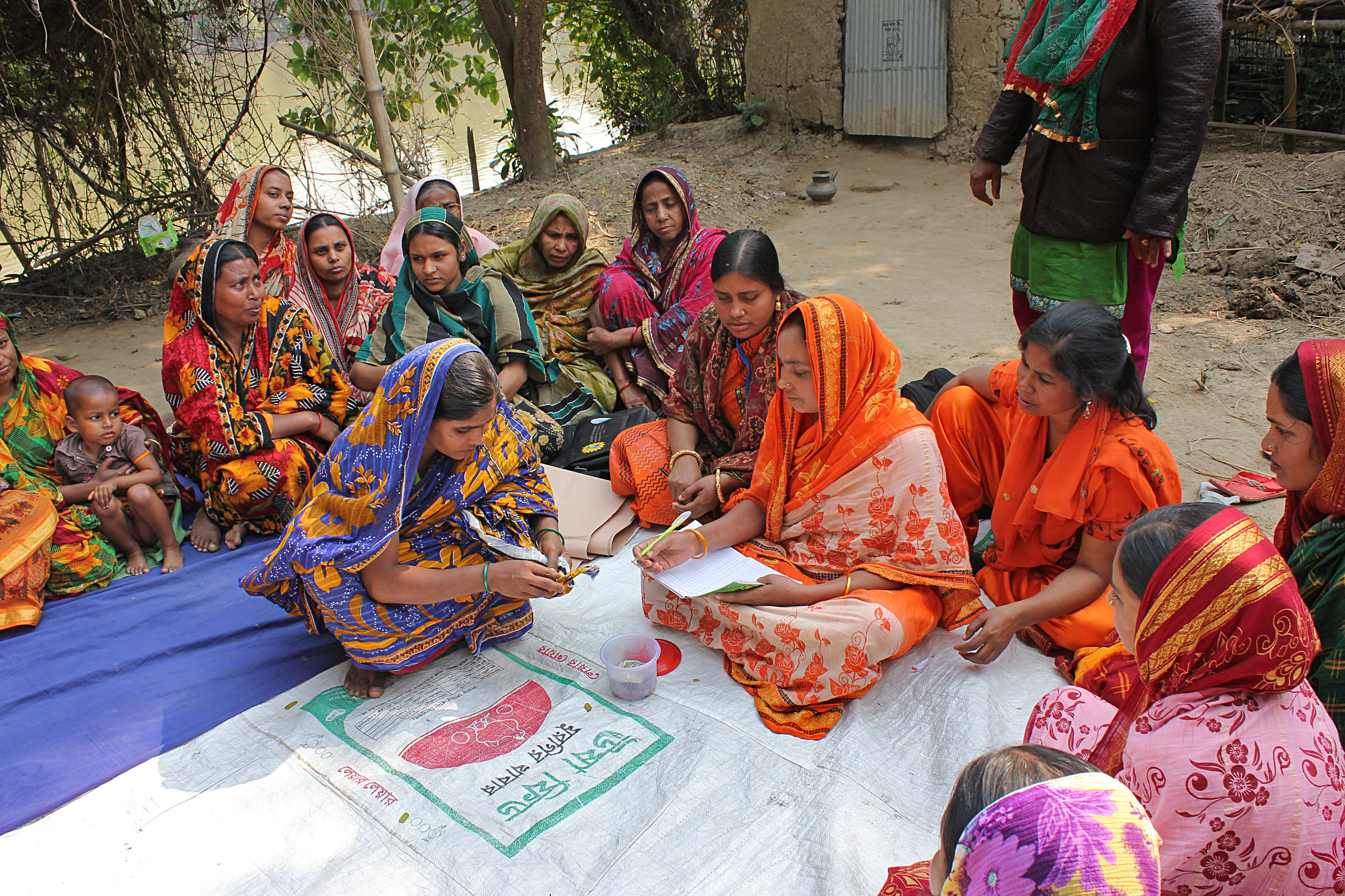 A women's health group meet to discuss new ideas on how to resolve health problems in their community