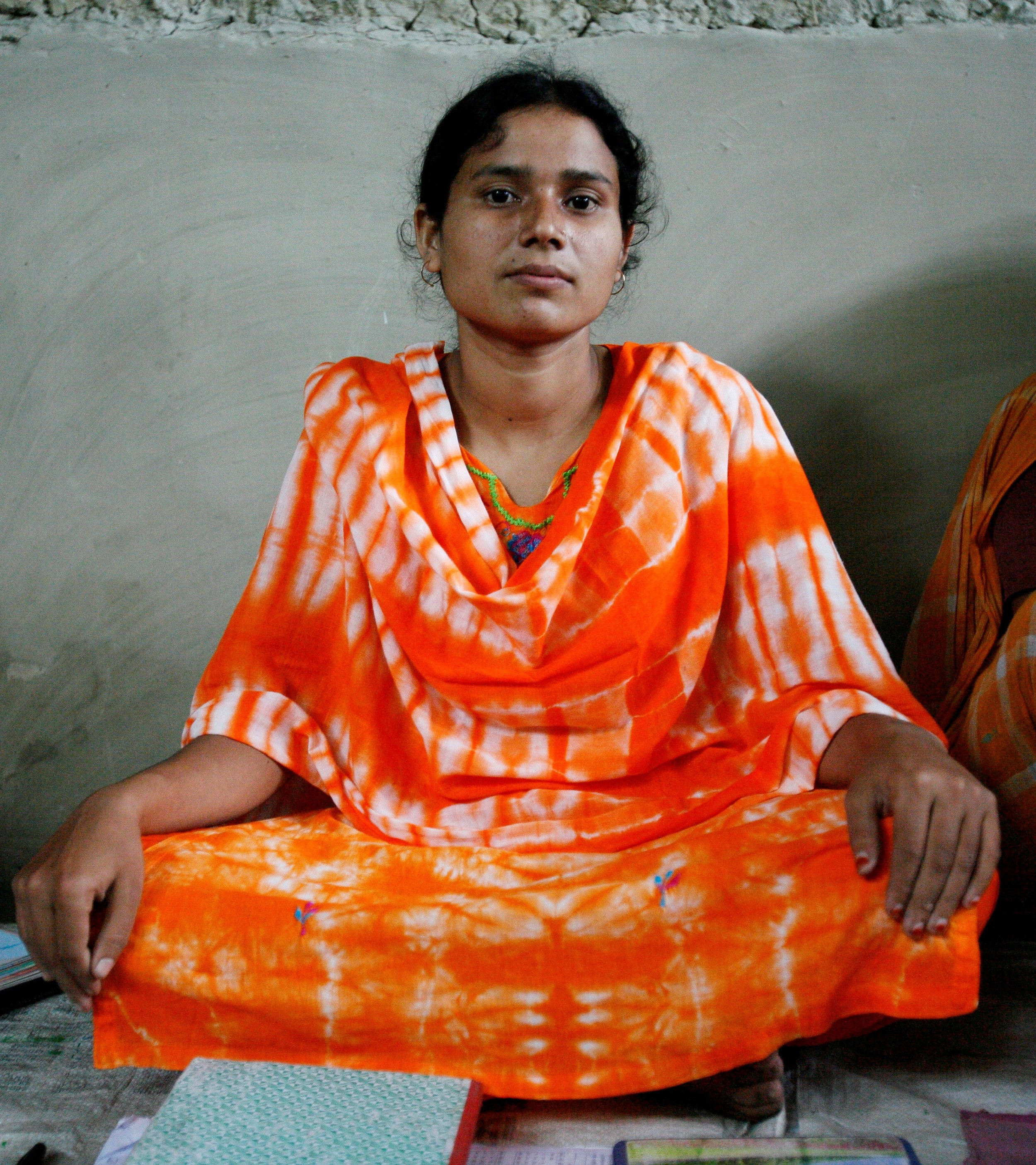 One of the young women that lead a local health group (Photo: Sam Strickland)
