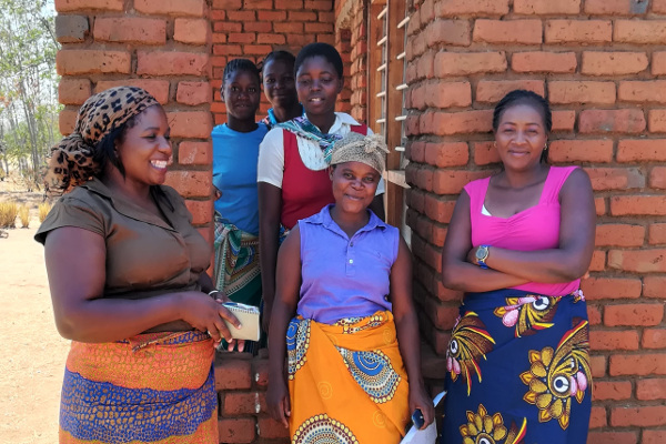 Women's health group leader in Chitala, Malawi, with some of the attendees.