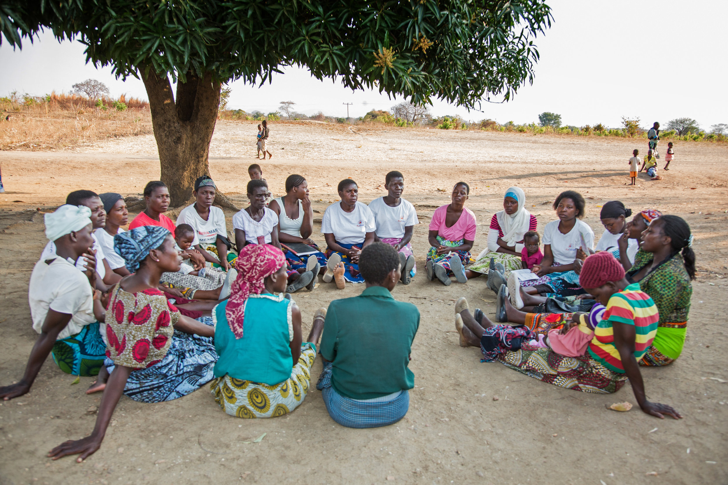A women's health group meets in Kutambala village, Malawi (Photo: Corrie Wingate)