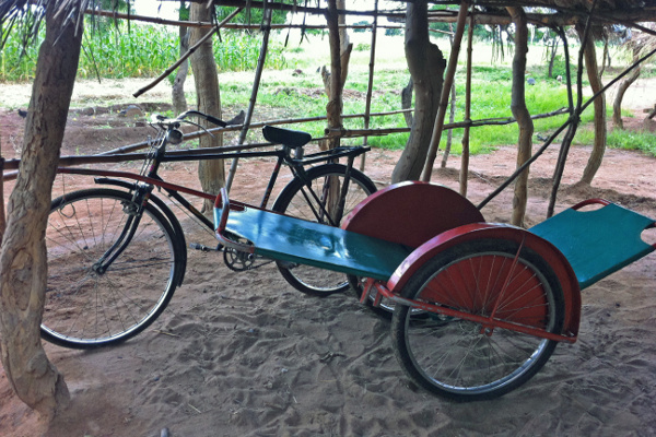 One of the bicycle ambulances available to the community in Malawi