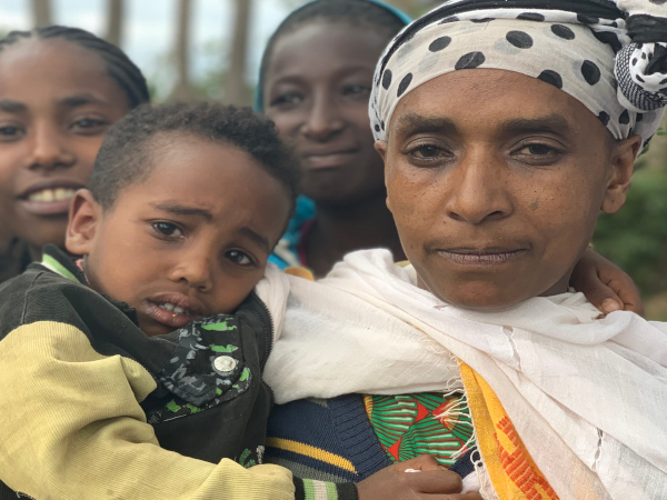Birtukan with her son, who recovered quickly from diarrhoea in Malga, Ethiopia.