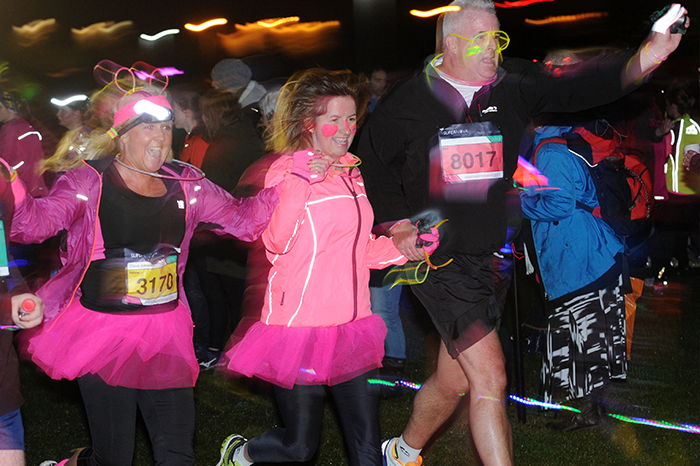 Runners geared up in their brightest and best attire at the Supernova 5K!