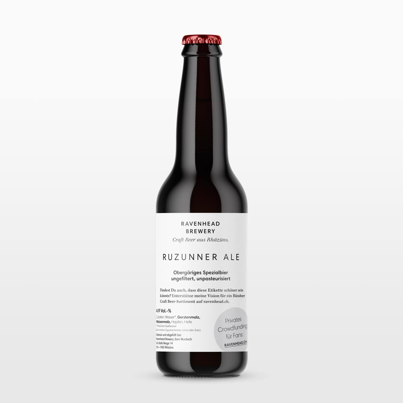 The first beer from Ravenhead: Ruzunner Ale