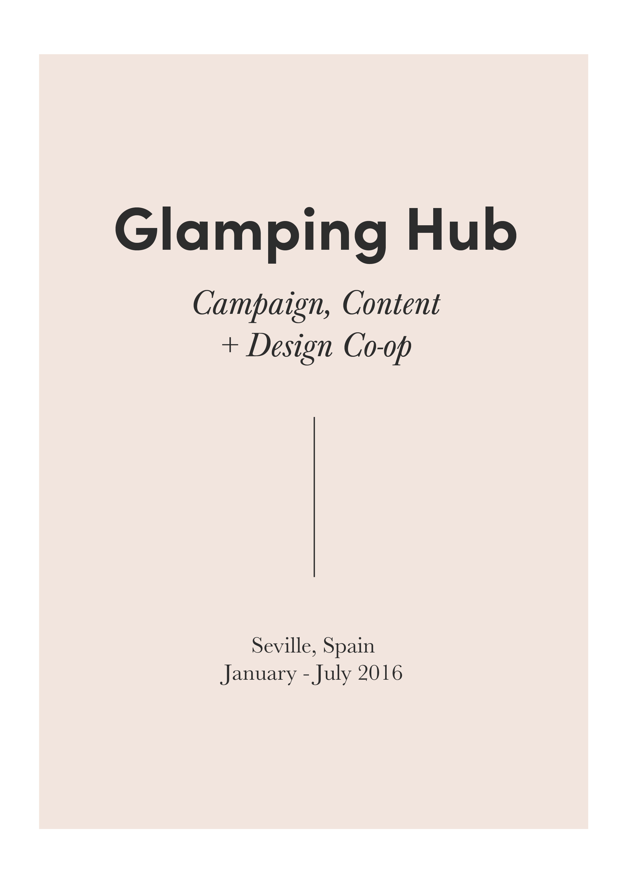 "Glamping Hub is an online travel platform for ""glamorous camping"" (think Airbnb for treehouses!). Here, I combined visual design thinking and market strategy through creating E-Blasts, designing promotional brochures and printed media kits, writing blog posts, authoring property listings, and boosting search engine performance through on-page optimization. Check out  this video  I made while I was there!"