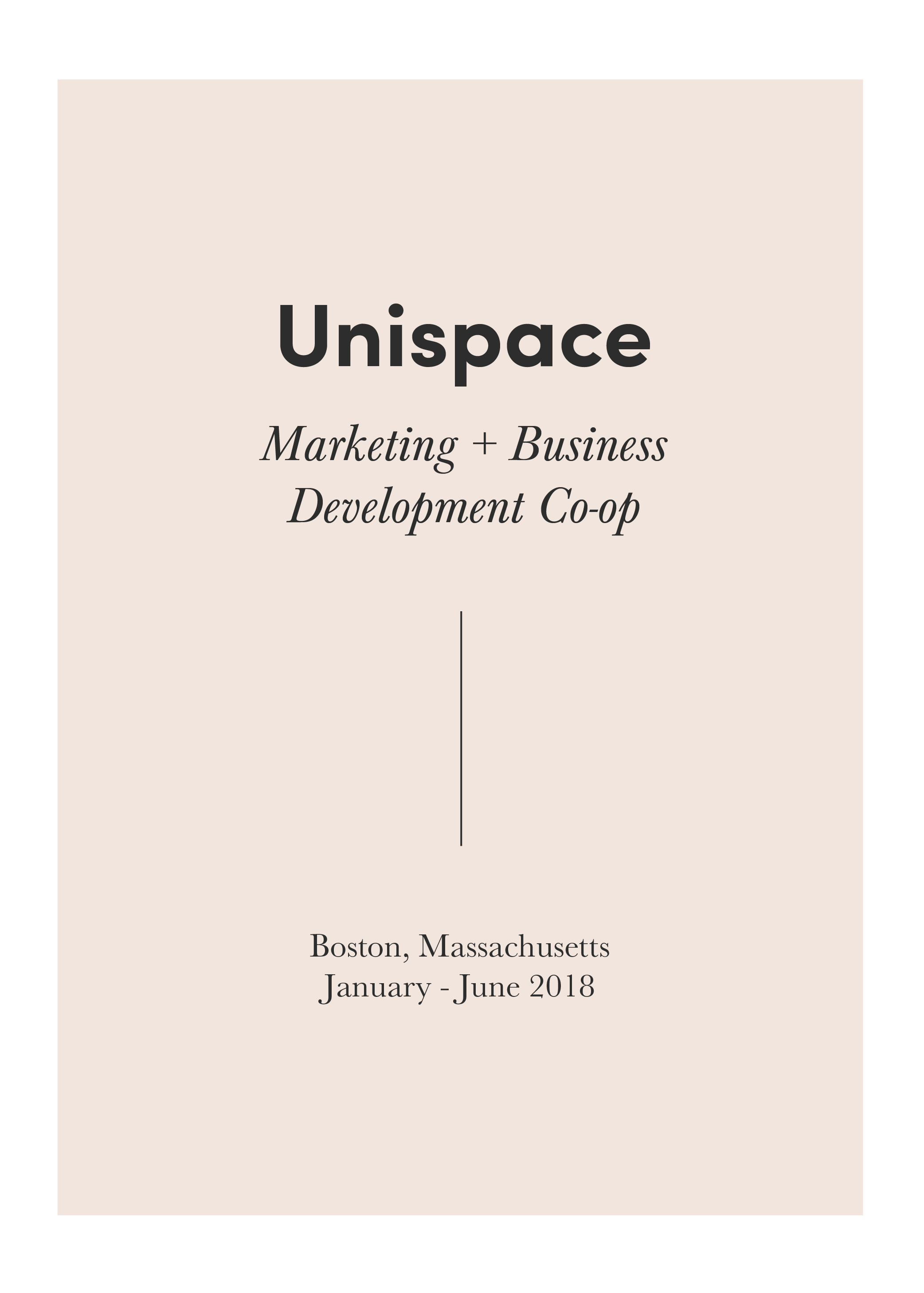 Unispace is a global leading business + commercial interior design firm. Here, I had the opportunity to help win strategic clients through the creation of proposals and presentations. I helped the business development team communicate the company's methodology and unique selling points. Beyond this, I assisted the marketing team with public relations, social media planning, case study photo shoots, and market research.