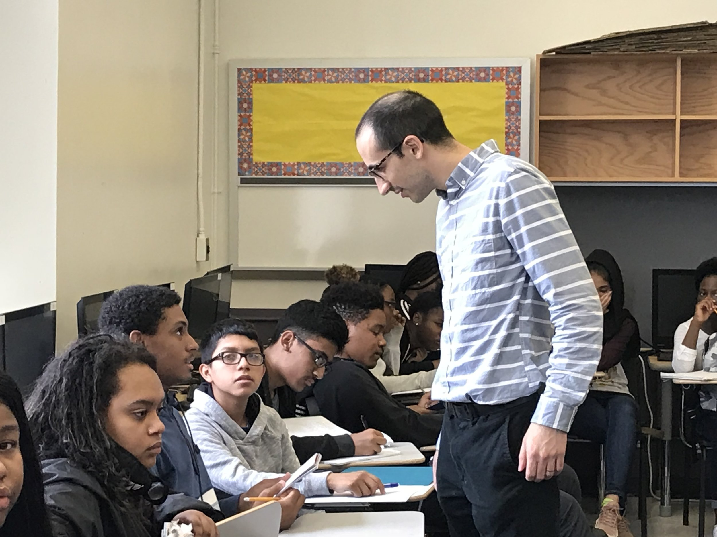 Mr. Linfield was inspired by his own high school math teacher.  Photo credit: Haseeb Khan