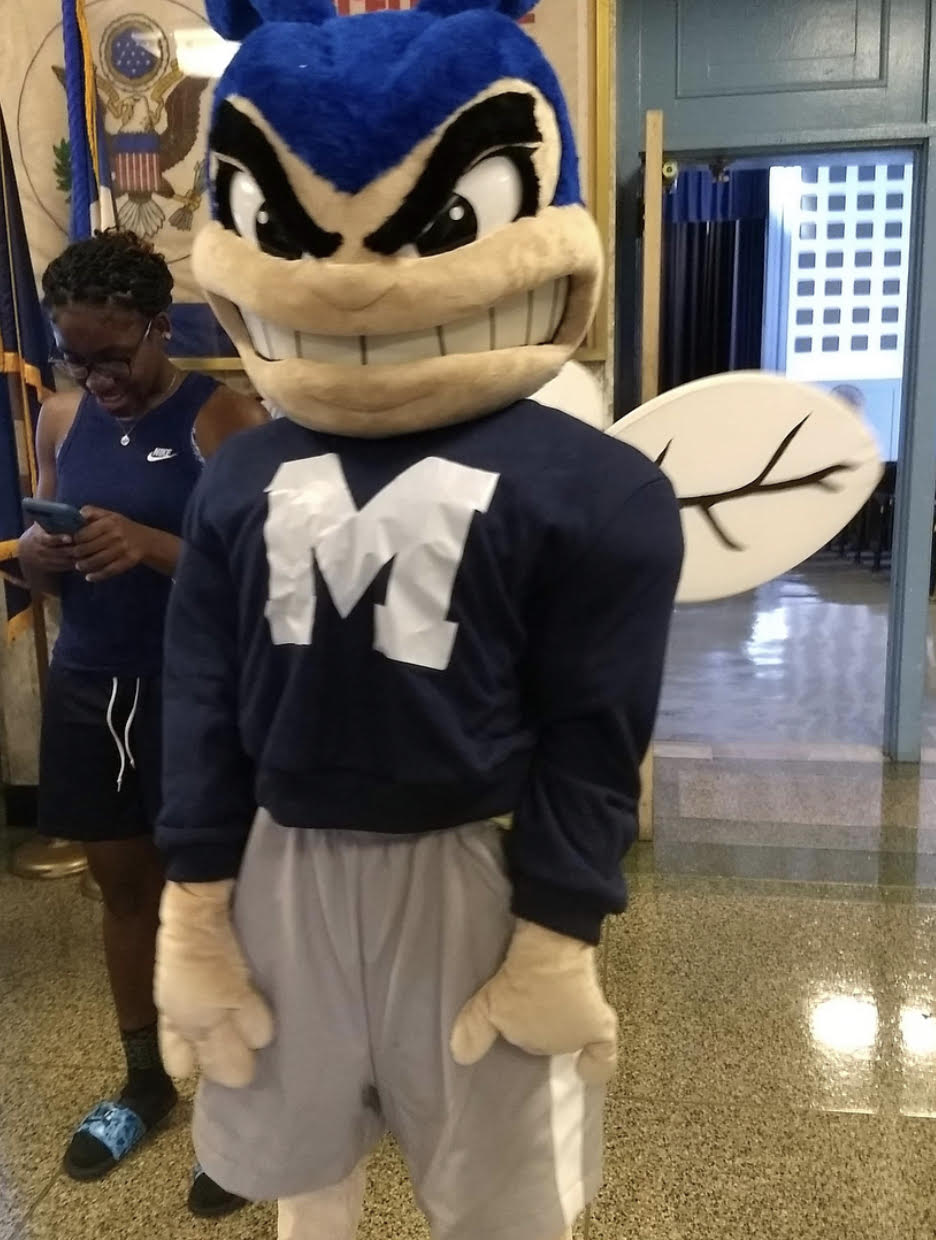 Howie, the new mascot, greets students.   Photo Credit: Tanisa Rahman