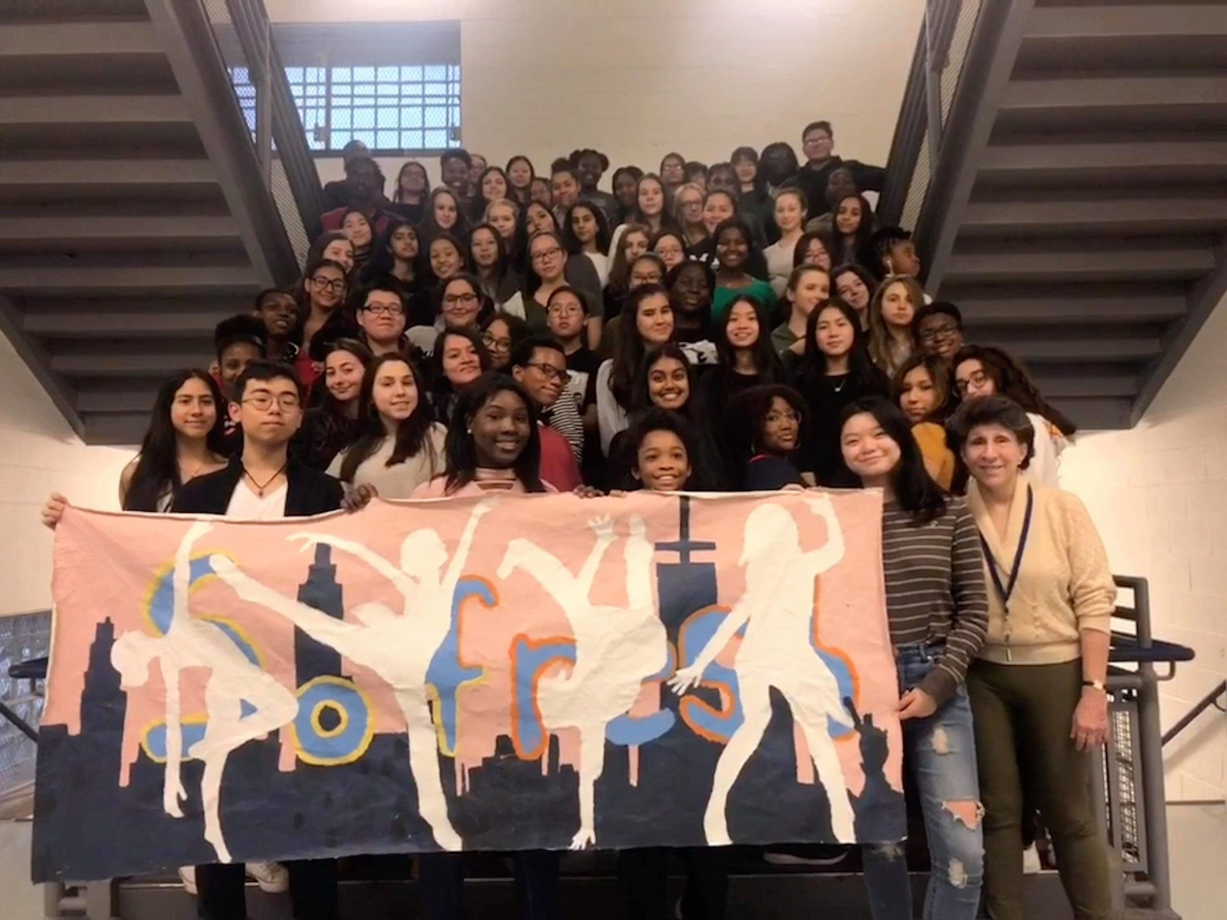 SoFresh proudly displays their SING! banner.  Photo Credit: Caroline Louie