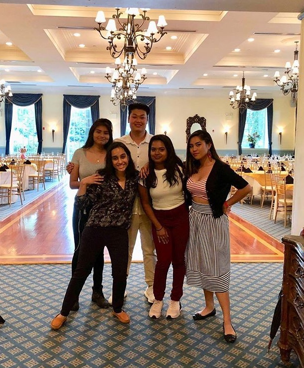 Members of the student government pose in the Dyker Beach Golf Course dining hall, where the Junior Semi-  Formal would have been held.  Photo courtesy of Laura Rosas