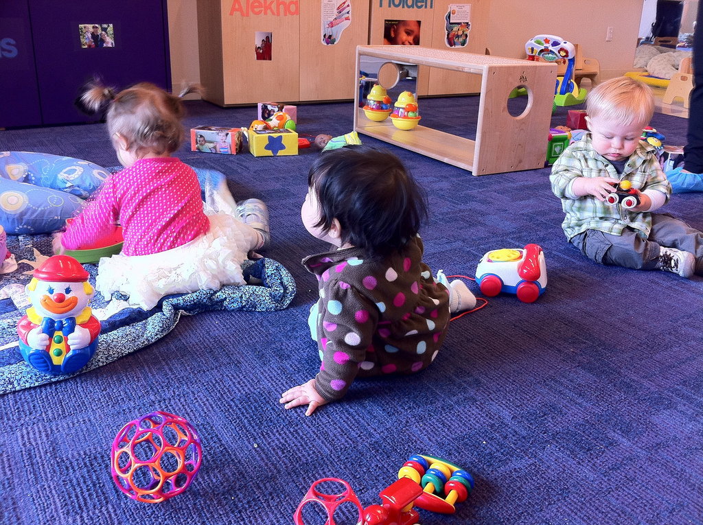 About 23% of children under five years old are in day care centers, nurseries or preschools, according to the Center for American  Progress.  Photo Credit: Flickr