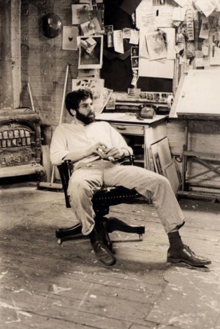 Robert Grossman in his studio in 1968.   Photo Credit: Jan Welt via Midwood Alumni Association