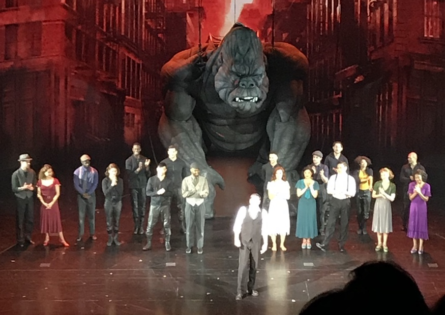 Over a dozen puppeteers worked together to physically operate King Kong.  Photo credit: Karen Wong