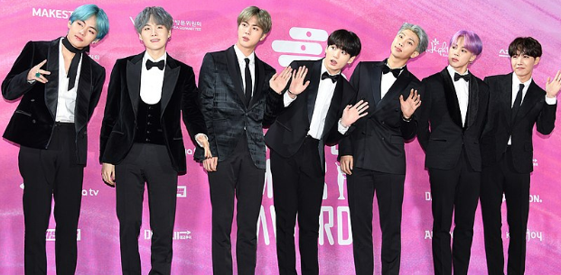 BTS at the 2019 Seoul Music Awards.  Photo Credit: Wikimedia Commons