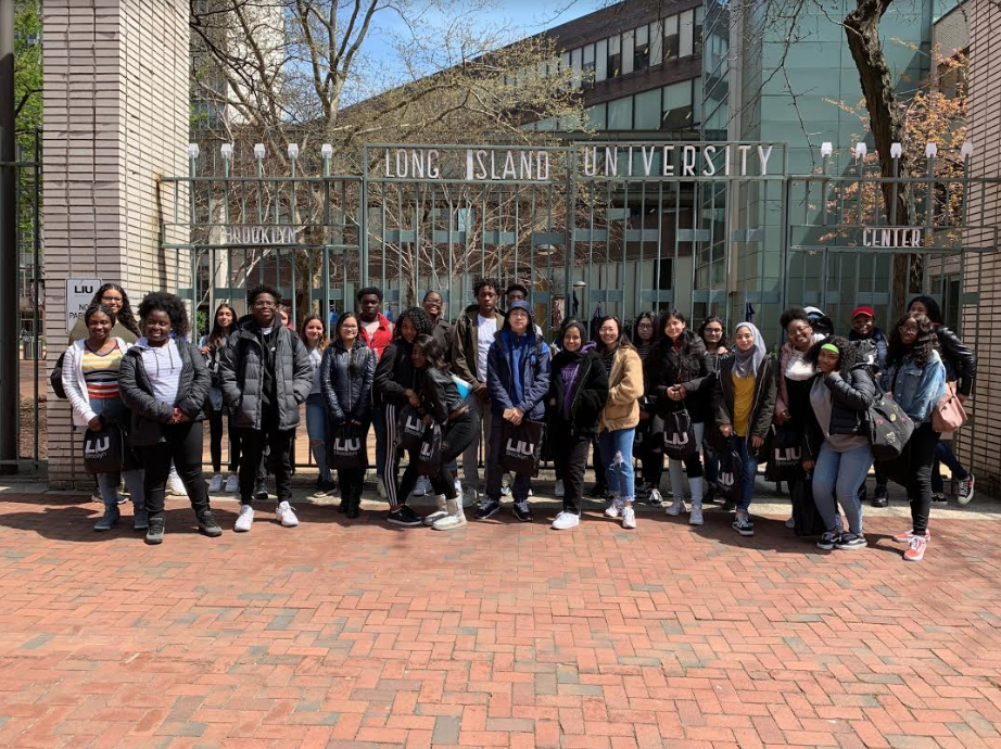 Students toured the LIU campus and received advice from professors.  Photo Credit: Karen Giordano