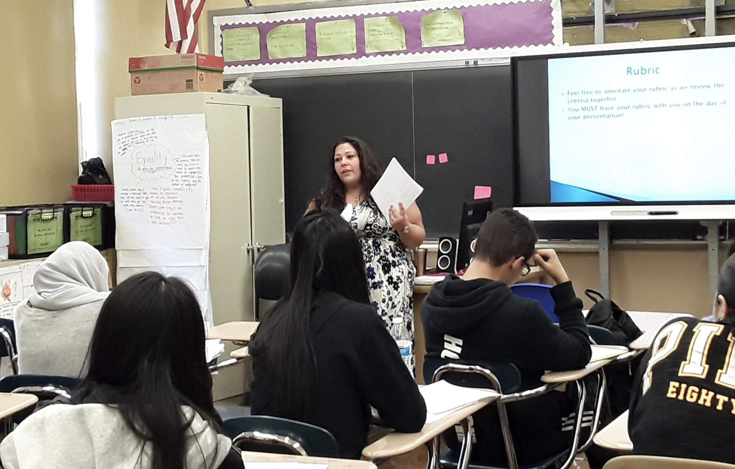 Ms. Joanna Alonso explains project guidelines to her third period class.   Photo Credit: Samantha Flannery