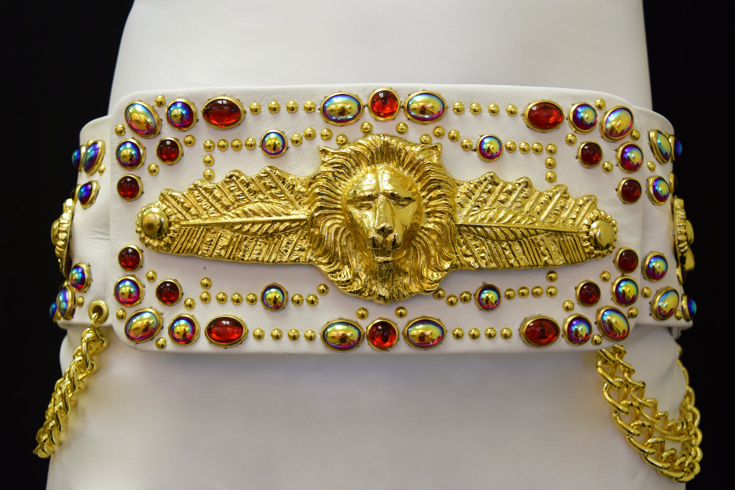 Lion and Feather Belt Red Waist.jpg