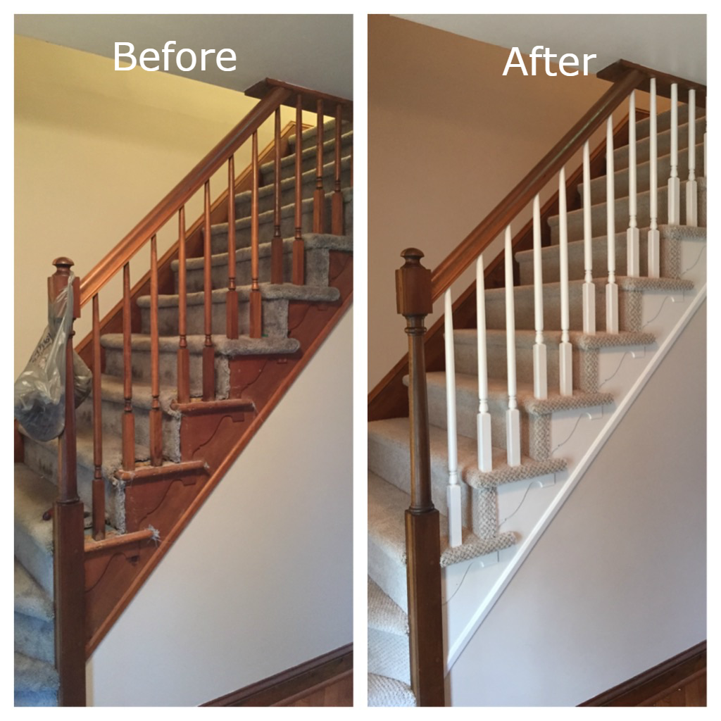 Before and After Carpet Staircase
