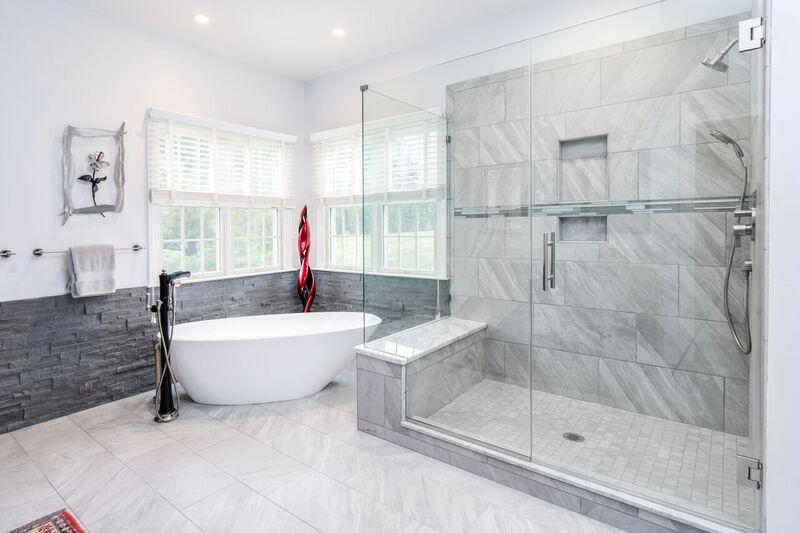 Tile and Ledgerstone Bathroom