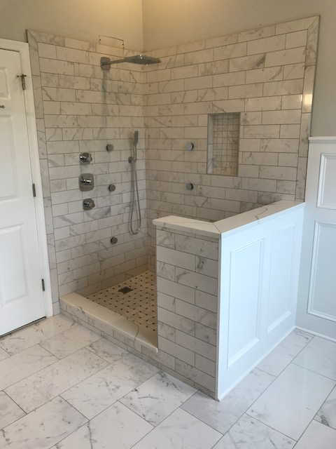 Cararra Tile Shower
