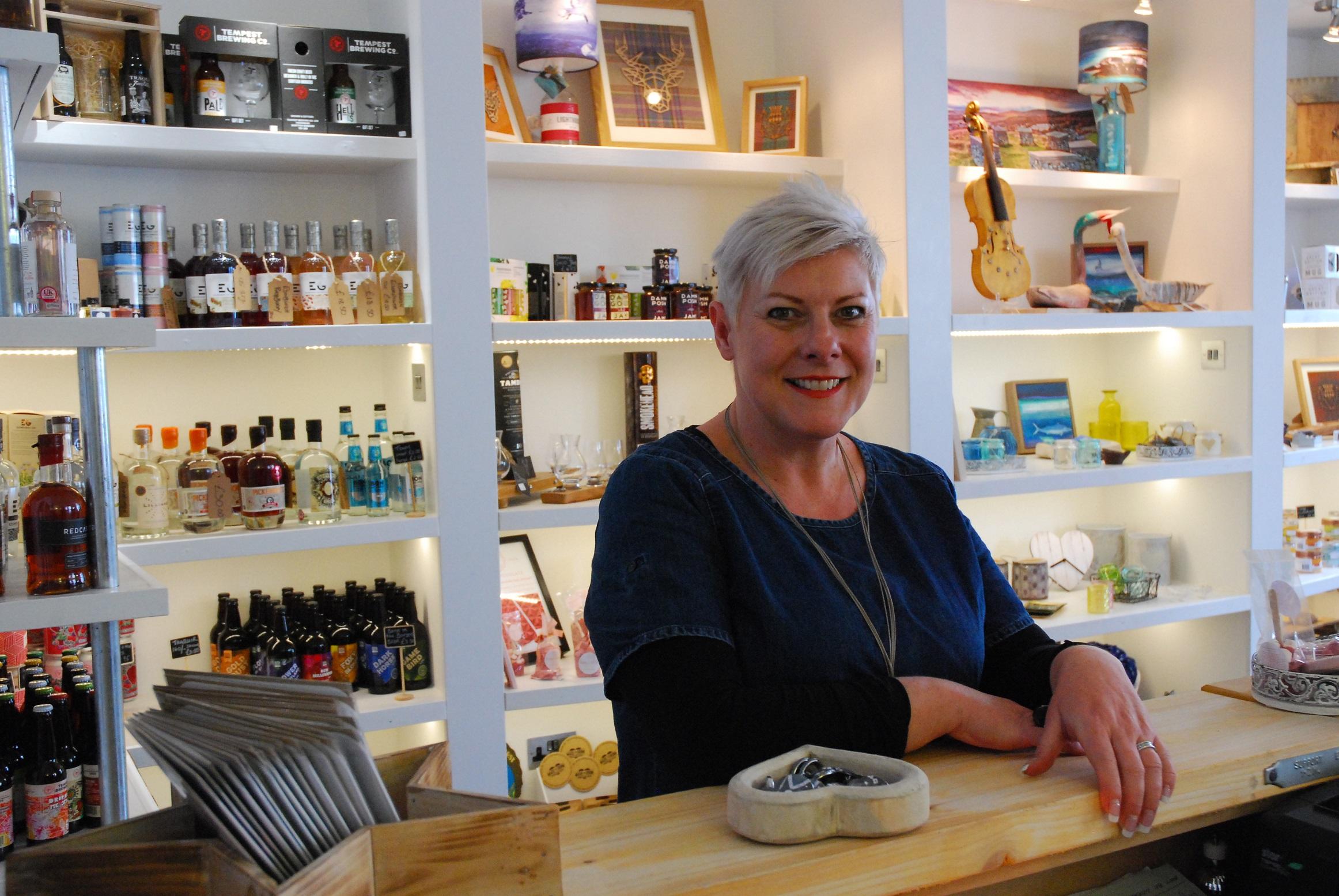 Pauline Archibald at the Hub on the High Street, Innerleithen