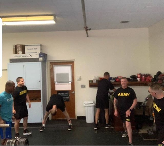 Good day training some Army recruits and recruiters! #purefit#stronger#healthierlifestyle #