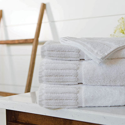 Piano Key - BATH TOWEL: 27 X 50, 14 LB./DZ., 27 X 54, 17 LB./DZ. HAND TOWEL: 16 X 30, 4.5 LB./DZ.WASH CLOTH: 13 X 13, 1.5 LB./DZ.BATH MAT: 22 X 36, 10 LB./DZ.